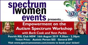 Empowerment on the Autism Spectrum Workshop with Barb Cook & Yenn Purkis – Penrith NSW @ Penrith RSL Club