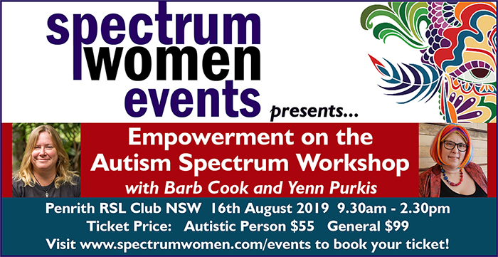 Empowerment on the Autism Spectrum Workshop with Barb Cook & Yenn Purkis – Penrith NSW